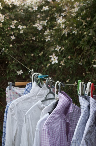 Shirts drying in the sun